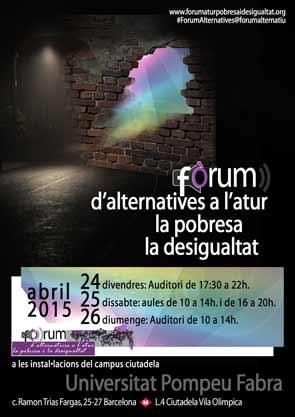Forum contra la pobresa, la desigualtat i l'atur