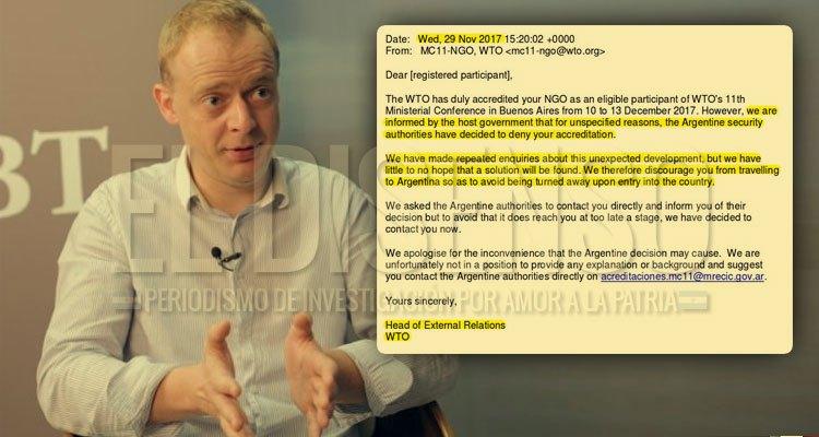 Nick Dearden - Portaveu de Global Justice Now (Foto: http://www.eldisenso.com/)